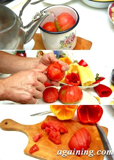 Фото: Очищення помідорів від шкірки