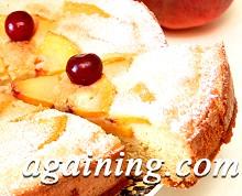 Фото: Шматочок пирога з персиками