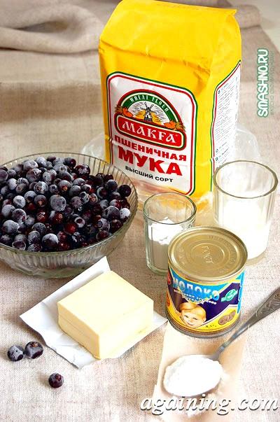 Фото: Набір продуктів для полуничного пирога