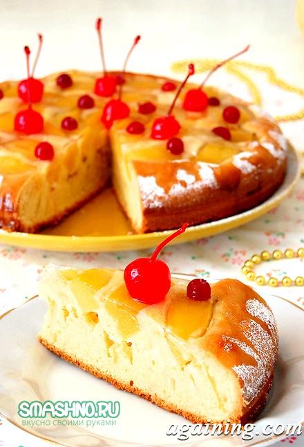 Фото: Пиріг з персиками фото