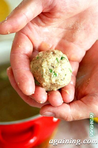 Фото: Картопляні фрикадельки з грибами «плавуни»