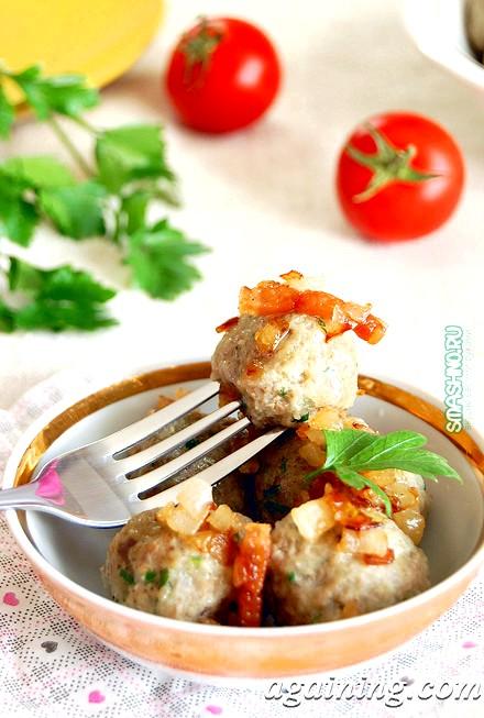 Фото: Картопляні фрикадельки з грибами