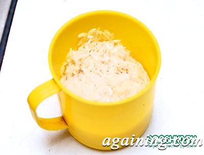 Фото: Промитий рис