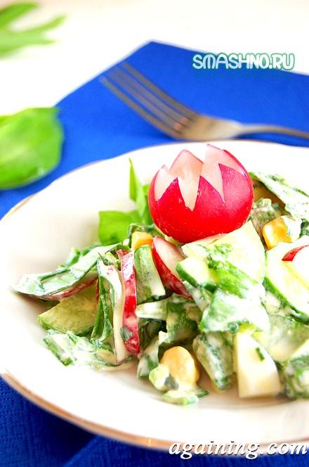 Фото: Весняний салат з черемшею, фото