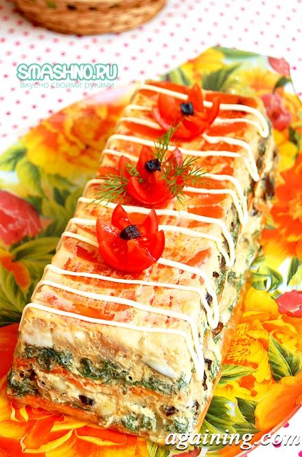 Фото: Готовий торт з рибою