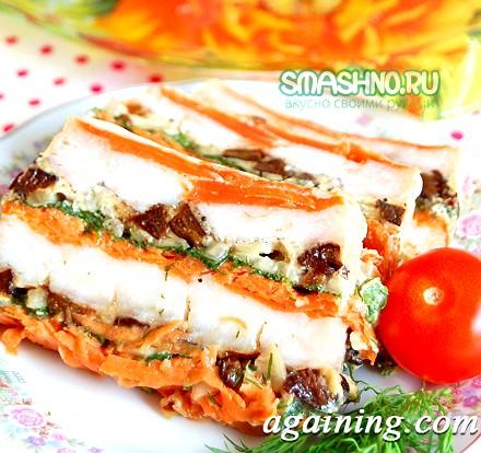 Фото: Рибний торт з овочами