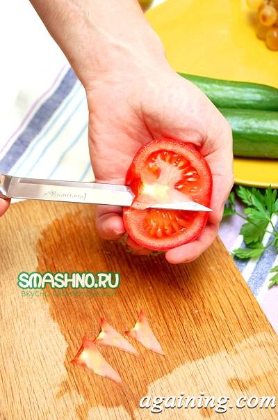 Фото: Салат з кольоровою капустою
