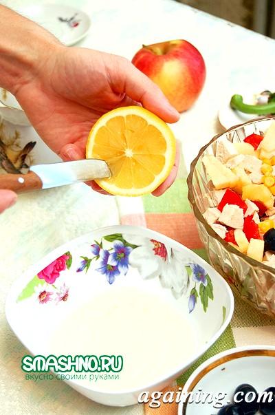 Фото: Ось так нарізав для салату яблука