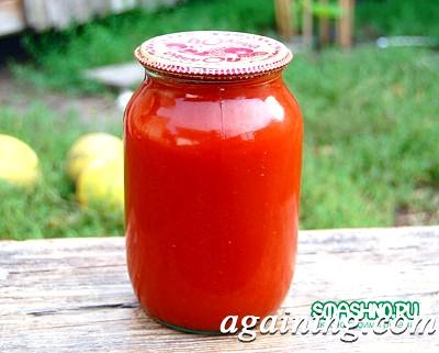 Фото: Готова банку з томатним соком
