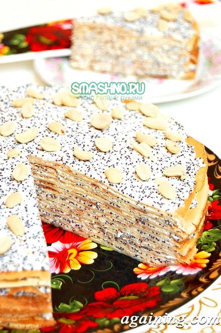 Фото: Млинцевий торт в розрізі