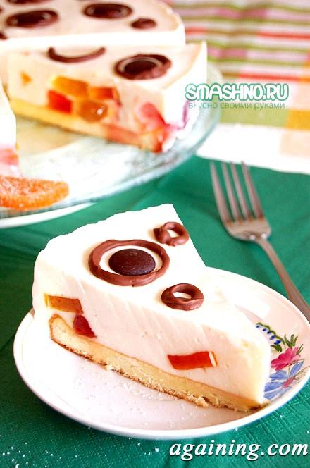 Фото: Желейний сметанний торт, фото