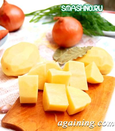 Фото: Великі шматки картоплі