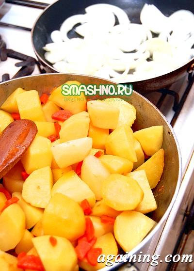 Фото: Обсмажений картопля з морквою